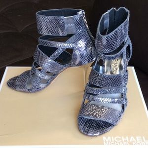 Michael Kors Cage Style booties.